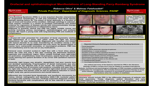 113:Orofacial and ophthalmological Manifesteations of Long-Standing Parry-Romberg Syndrome[AAOM2020}