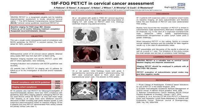 18F-FDG PET/CT in cervical cancer assessment