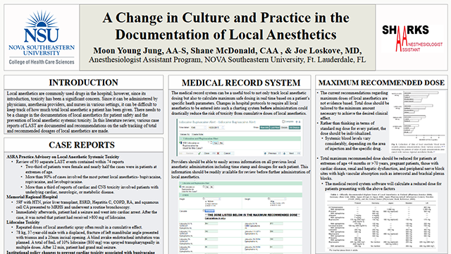 A Change in Culture and Practice in the  Documentation of Local Anesthetics