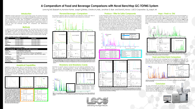 A Compendium of Food and Beverage Comparisons with Novel Benchtop GC-TOFMS System