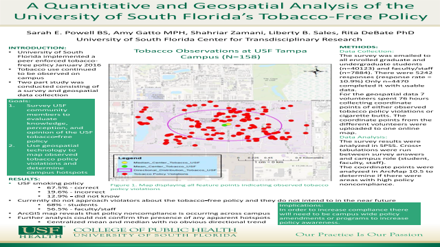 A Quantitative and Geospatial Analysis of the University of South Florida's Tobacco-Free Policy