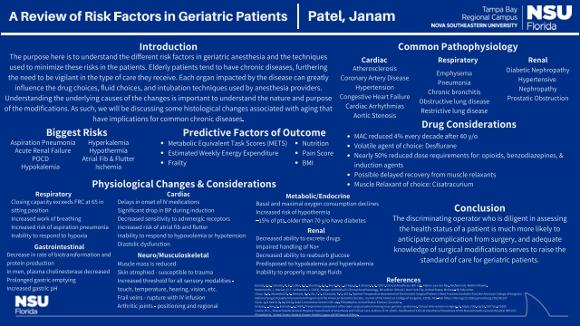 A Review of Risk Factors in Geriatric Patients