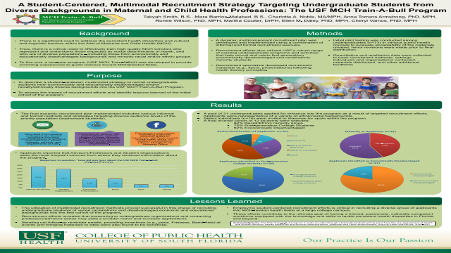 A Student-Centered, Multimodal Recruitment Strategy Targeting Undergraduate Students from Diverse Backgrounds in Maternal and Child Health Professions: The USF MCH Train-A-Bull Program