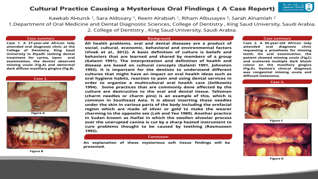 184:Cultural Practice Causing Mysterious Oral Findings[AAOM2020}