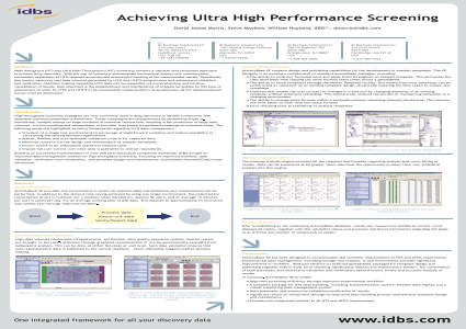 Achieving Ultra High Performance Screening
