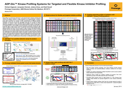 ADP-Glo™ Kinase Profiling Systems for Targeted and Flexible Kinase Inhibitor Profiling