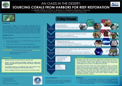 An Oasis in the Desert: Sourcing Corals From Harbors for Reef Restoration