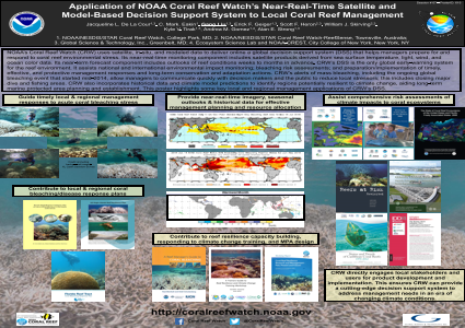 Application of NOAA Coral Reef Watch's Near-Real-Time Satellite and  Model-Based Decision Support System to Local Coral Reef Management