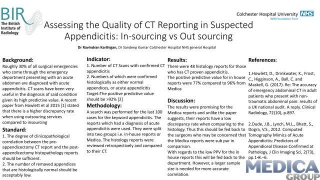 Assessing the Quality of CT Reporting in Suspected Appendicitis: In-sourcing vs Out sourcing