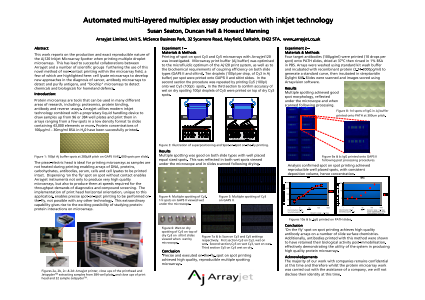Automated Multi-Layered Multiplex Assay Production with Inkjet Technology