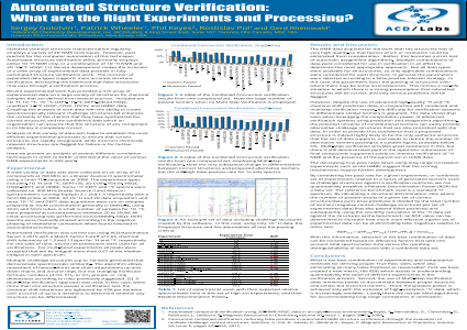 Automated Structure Verification: What are the Right Experiments and Processing?