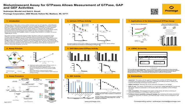 Bioluminescent Assay for GTPases Allows Measurement of GTPase, GAP and GEF Activities