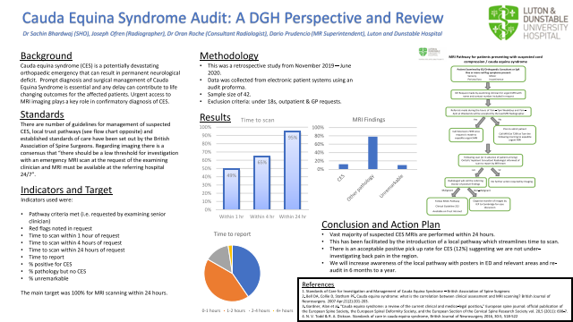 Cauda Equina Syndrome Audit: A DGH Perspective and Review