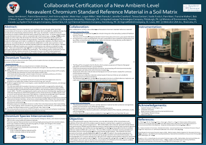 Collaborative Certification of a New Ambient-Level Hexavalent Chromium Standard Reference Material in a Soil Matrix