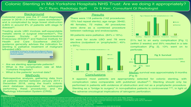 Colonic Stenting in Mid-Yorkshire Hospitals NHS Trust: Are we doing it appropriately?