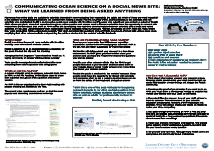 COMMUNICATING OCEAN SCIENCE ON A SOCIAL NEWS SITE:  WHAT WE LEARNED FROM BEING ASKED ANYTHING