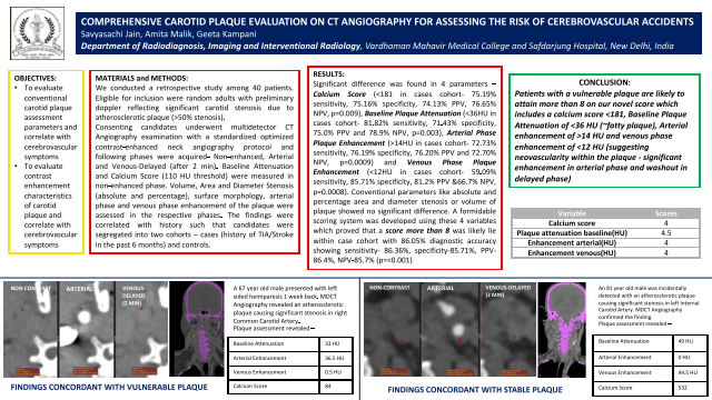 Comprehensive Carotid Plaque Evaluation on CT Angiography for assessing the risk of cerebrovascular accidents