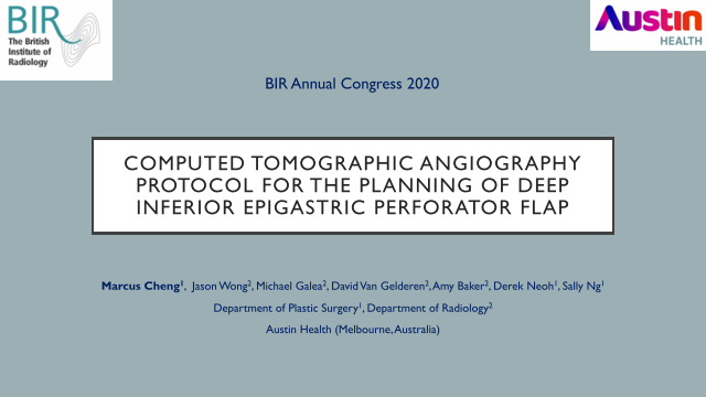 Computed Tomographic Angiography Protocol for the Planning of Deep Inferior Epigastric Perforator Flap