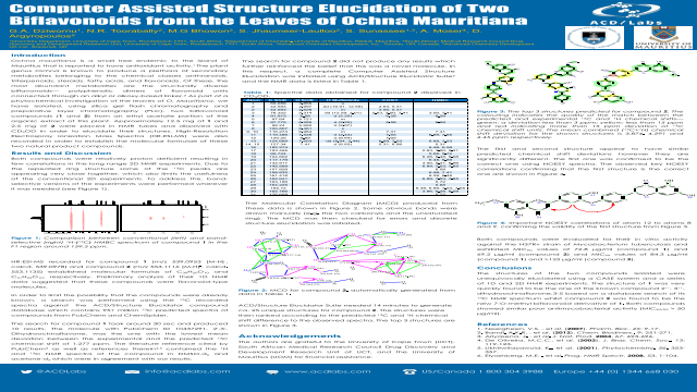 Computer Assisted Structure Elucidation of Two Biflavonoids from the Leaves of Ochna Mauritiana