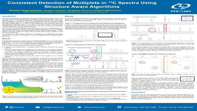 Consistent Detection of Multiplets in 13C Spectra Using Structure Aware Algorithms