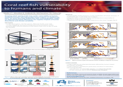 Coral reef fish vulnerability to humans and climate