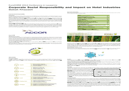 Corporate Social Responsibility and Impact on Hotel Industries