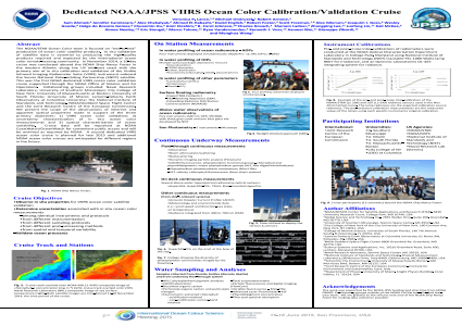 Dedicated NOAA/VIIRS Ocean Color Calibration/Validation Cruise:  Cruise objectives and scope of observations.