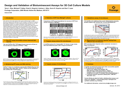 Design and Validation of Bioluminescent Assays for 3D Cell Culture Models