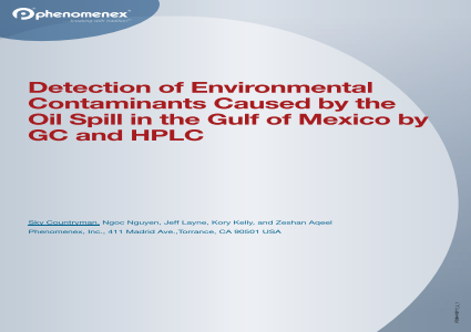 Detection of Environmental Contaminants Caused by the Oil Spill in the Gulf of Mexico by GC and HPLC