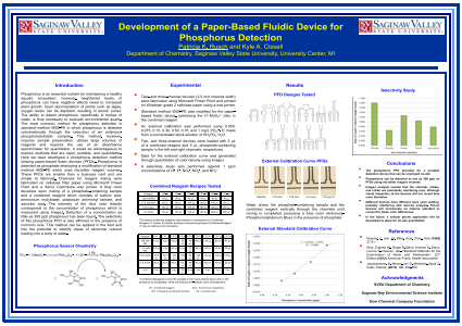 Development of a Paper-Based Fluidic Device for Phosphorus Detection