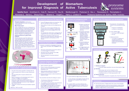 Development of Biomarkers for Improved Diagnosis of Active Tuberculosis