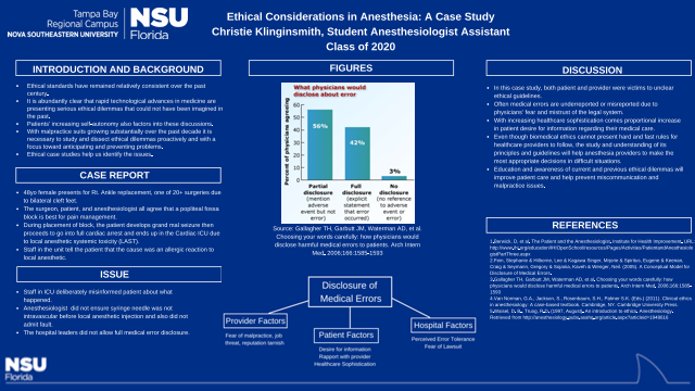 Ethical Considerations in Anesthesia: A Case Study