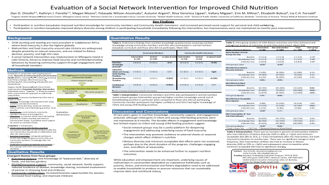 Evaluation of a Social Network Intervention for Improved Child Nutrition