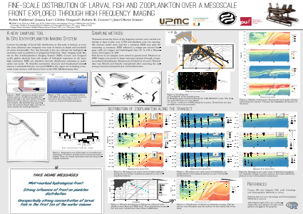 FINE-SCALE DISTRIBUTION OF LARVAL FISH AND ZOOPLANKTON OVER A MESOSCALE FRONT EXPLORED THROUGH HIGH FREQUENCY IMAGING