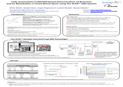 Fully Automated LC-MS/MS-based Determination of Bosentanand its Metabolites in Dried Blood Spots using the SCAP™ DBS System