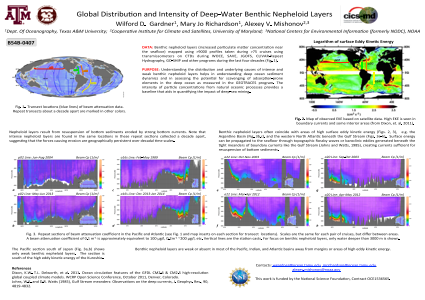 GLOBAL DISTRIBUTION AND INTENSITY OF DEEP-WATER BENTHIC NEPHELOID LAYERS