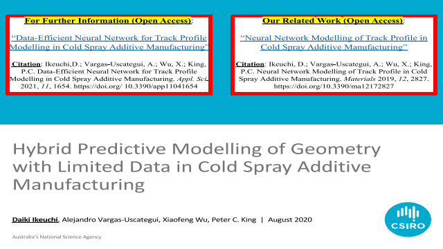 Hybrid Predictive Modelling of Geometry with Limited Data in Cold Spray Additive Manufacturing