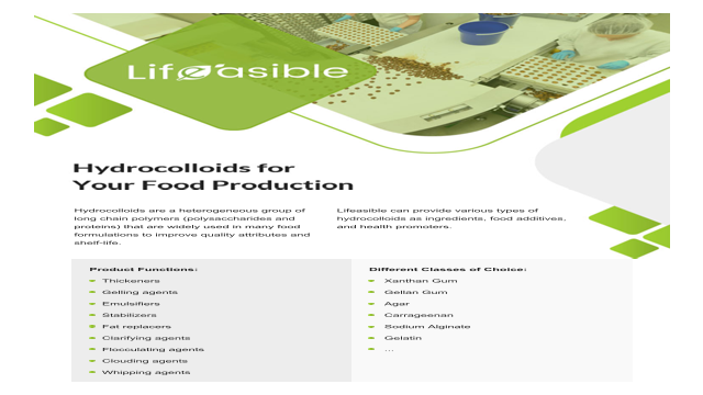 Hydrocolloids for Your Food Production