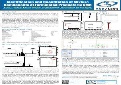 Identification and Quantitation of Mixture Components of Formulated Products by NMR