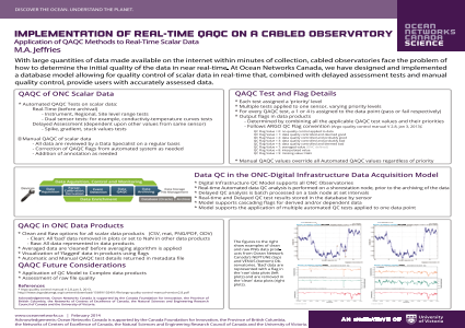 Implementation of Real-time QAQC on a Cabled Observatory