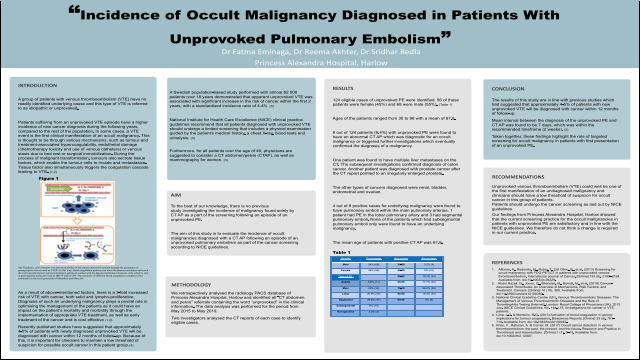 """Incidence of Occult Malignancy Diagnosed in Patients With Unprovoked Pulmonary Embolism"""