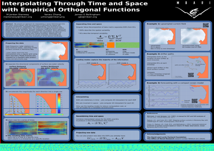 Interpolating through time and space  with empirical orthogonal functions