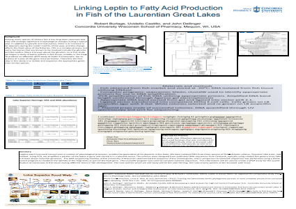 Linking Leptin to Fatty Acid Production in Fish of the Laurentian Great Lakes