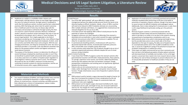 Medical Decisions and US Legal System Litigation, a Literature Review