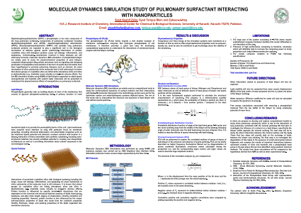 Molecular Dynamics Simulation Study of Pulmonary Surfactant Interacting With Nanoparticles