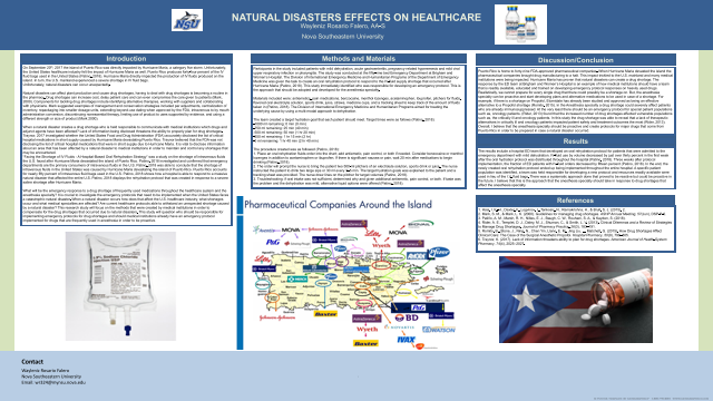 Natural Disasters Effects On Anesthesia
