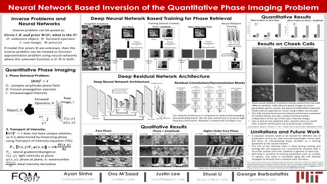 Neural network based Inversion of the quantitative phase inversion problem