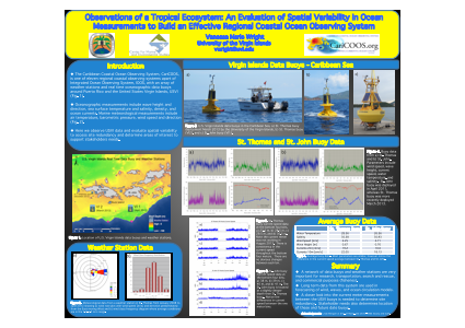 OBSERVATIONS OF A TROPICAL ECOSYSTEM: AN EVALUATION OF SPATIAL VARIABILITY IN OCEAN MEASUREMENTS TO BUILD AN EFFECTIVE REGIONAL COASTAL OCEAN OBSERVING SYSTEM