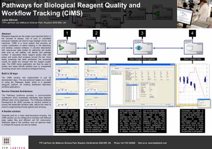 Pathways for Biological Reagent Quality and Workflow Tracking (CIMS)