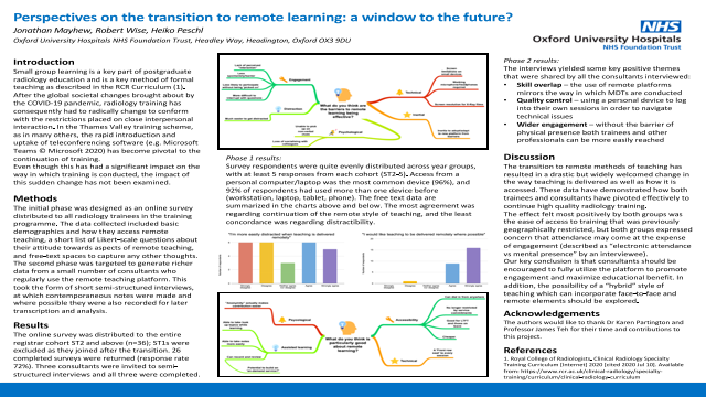 Perspectives on the transition to remote learning: a window to the future?